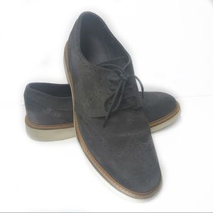 GEOX Size 43 Damocle Suede Shoe